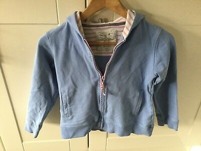 Joules Girls Blue Zip Front Hoodie Age 9-10 Years. Good Condition.