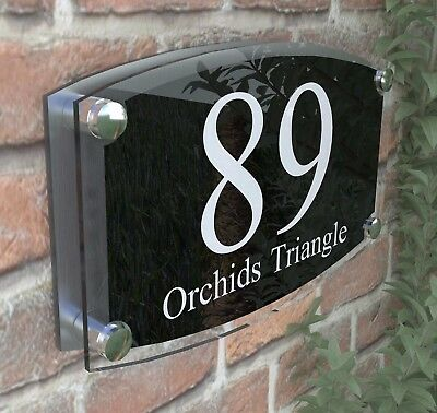 Large House Signs Plaques Door Number 1 - 999 Personlised Wall  Address - 2WB
