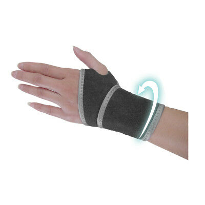 Wrist Compression Support Strap Brace Protector Wrap, Thumb Loop One Size Silver