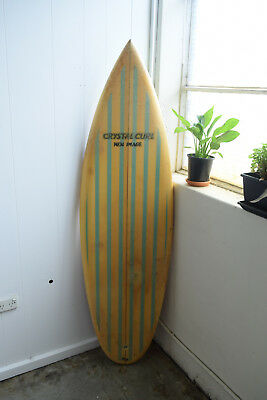 Vintage Single Fin Late 1970s Crystal Curl New Image Surfboard 5'9""