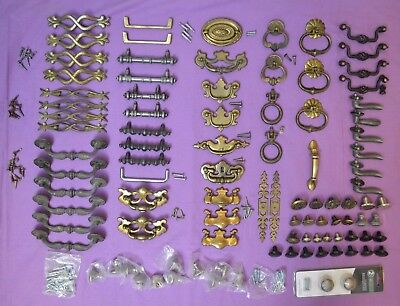 HUGE LOT of Metal Dresser Drawer Cabinet Door Pulls Handles Knobs etc