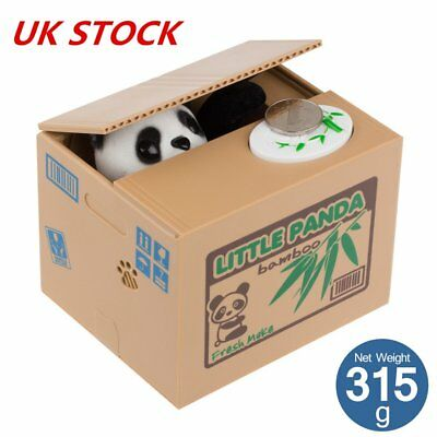 Panda Piggy Bank Stealing Coin Money Storage Saving Box Xmas Gift for Children