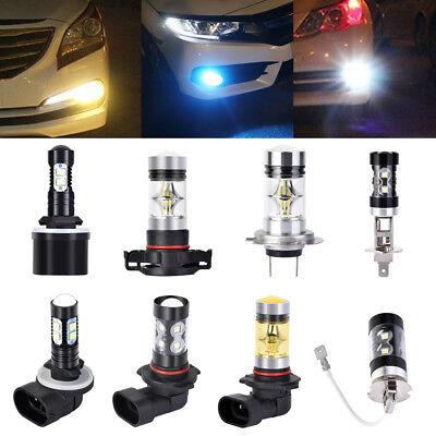 LED Nebelscheinwerfer 50W 100W H1 H7 H11 H3 HB4 Auto DRL Driving Fog Light Weiß
