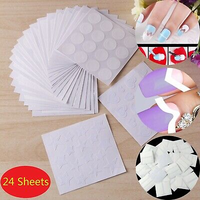 24x French Nail Tips Manicure Nail Stickers Polish Guides Stencil Set Decoration