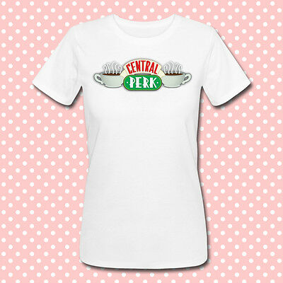 "T-shirt donna con stampa ""Central Perk"" logo, serie tv Friends, personalizzabile"