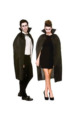 Halloween Devil Vampire Cape With High Collar Adults Red Black Fancy Dress Acces