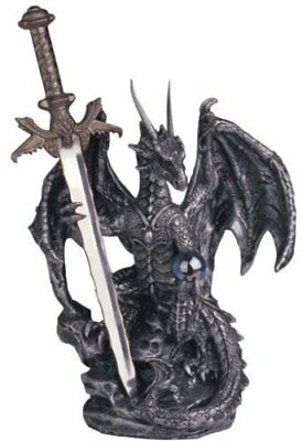 Dragon Sword Steel Fantasy Statue Figurine Medieval Home Decor Gift Collection