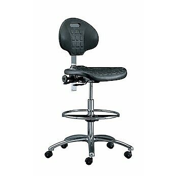 Bevco 7351 BLK Clean Room Polyurethane Chair 19 - 26.5 Height