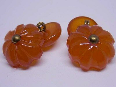 VTG natural toffee baltic pressed amber stone cufflink sleeve link 老琥珀 波羅的海琥珀