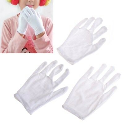 1/5Pair Kids Express Etiquette Polyester Child Performance Costume Gloves White