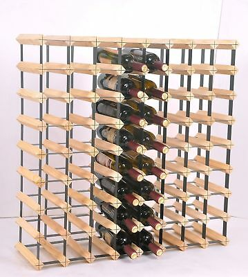 72 Bottle Timber Wine Rack - Complete Wooden Wine Storage System