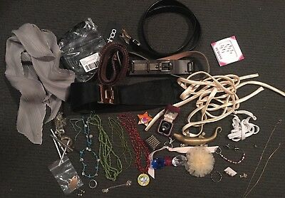 Bulk Lot Of Stamped Silver, Gold & Costume Jewellery Rings +Belts +Silk Chokers!