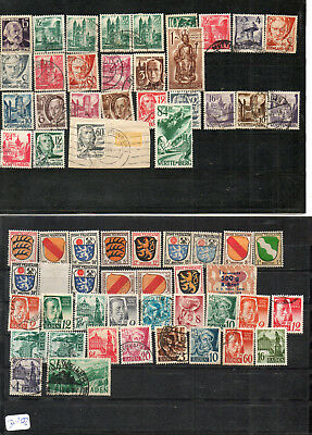 Alliierter Besetzung Lot 1413:  Briefmarken Fr. Zone