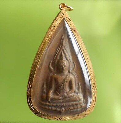 Real Chinnaraj Old Thai Buddha Amulet Siam Pendant Very Rare !!!
