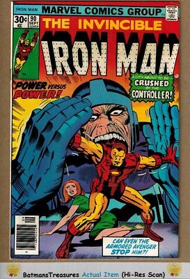 Invincible Iron Man #90 (9.2-9.4) NM By Jim Shooter 1976 Bronze Age Key Issue