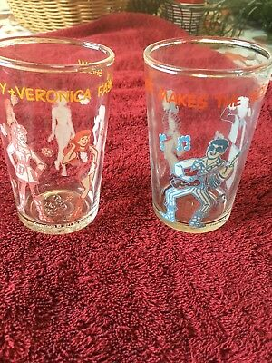 Set Of Two Vintage Collector Series Welch's Jelly Glass 1971 Archie Comics
