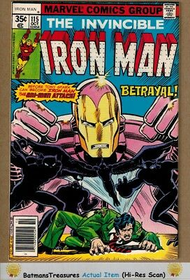 Invincible Iron Man #115 (8.5) VF+ 1st John Romita Jr On Series 1978 Key Issue