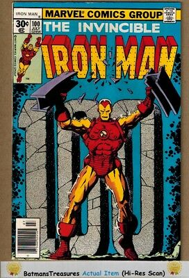 Invincible Iron Man #100 (6.5) Fine+ 1977 Bronze Age Ksy Issue By Jim Starlin