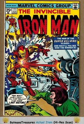 Invincible Iron Man #77 (9.0) VF/NM 1975 Bronze Age Key Issue