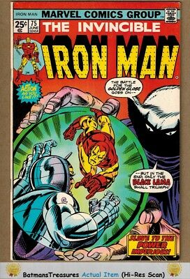 Invincible Iron Man #75 (8.0-8.5) VF+ vs Modok 1975 Bronze Age Key Issue