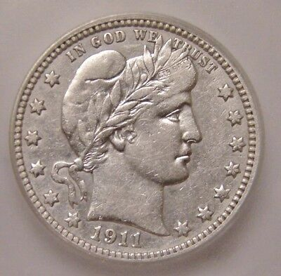 1911p Barber Quarter , ICG EF40 ( Cleaned ) ~ Take A Look !