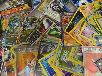 Pokemon Card Bundle! Joblot -10x - 300x Cards HOLOS GUARANTEED Mixed Random Lot!