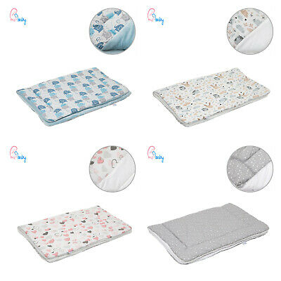 Cute Quilted Warm Cotton & Minky Baby Blanket Set 75x100cm - for cot, crib, pram
