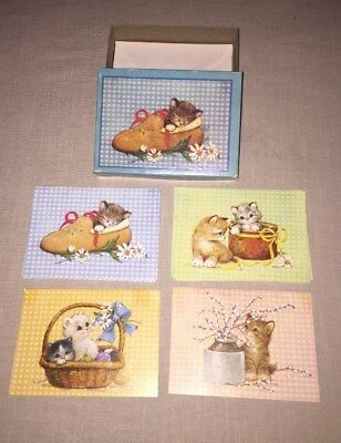 Box Of Vintage Olympicard Kitten Cat Notecards ~ Adorable