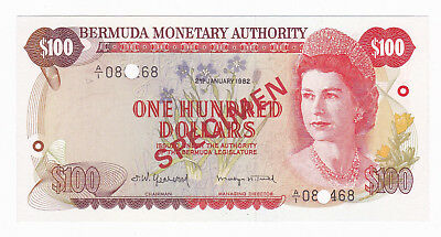 Bermuda 1982 100 Dollars Specimen [Gem Uncirculated Condition] [F/ship]