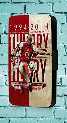 Thierry Henry Dennis Bergkamp Arsenal Legend 14 Phone Cover Leather Flip Case