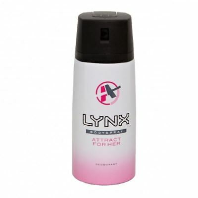 Lynx Body Spray Attract For Her 150ml  1 2 3 6 12 Packs