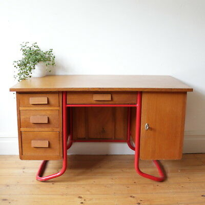 French mid century teachers school desk / office desk / vintage desk / desks