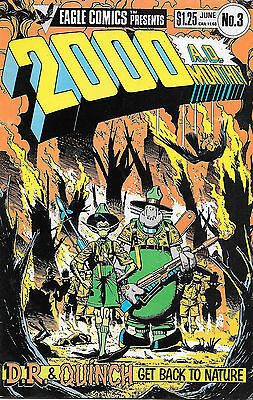 2000 AD Monthly #3 (1985 Eagle Comics, vf- 7.5) full colour, 32 pages