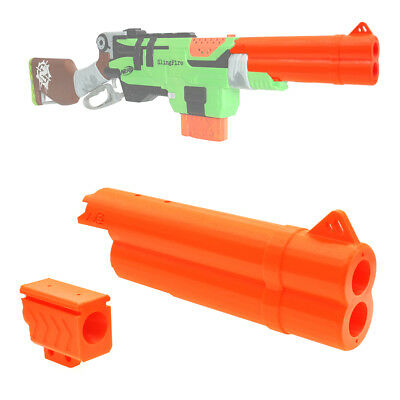 MaLiang 3D Print Shotgun Barrel Muzzle Sight Orange for Nerf SlingFire Mod Toy