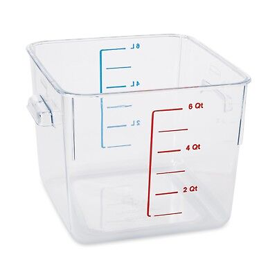 Rubbermaid Commercial Carb-X Space Saving Square Food Storage Container, 6-Quart