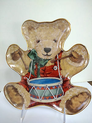"""Franklin Mint Collector Plate Little Drummer Teddy Bear Holiday Decor Bengry 8"""""""