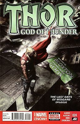 Thor God of Thunder Comic 024 Marvel 2014 Aaron  Last Days of Midgard Epilogue