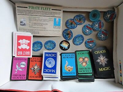 GAMES WORKSHOP MAN O WAR GAME WITH PLAGUE FLEET EXPANSION - Spares only