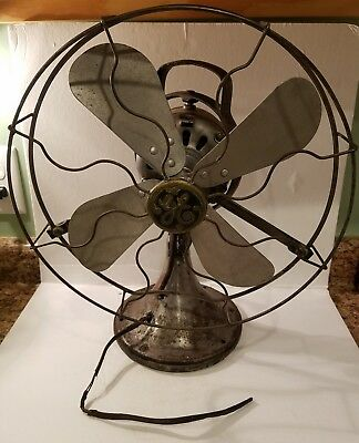 "Antique GE Oscillating 16"" FAN Type AOU AK1 75423 General Electric"