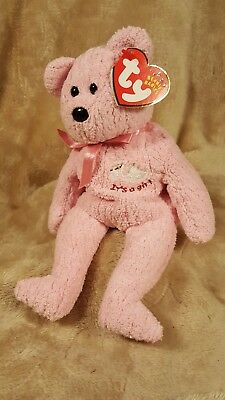 Ty Beanie Baby, Baby Girl the Bear, Style #4535, Retired, MwMT, January 19, 2002