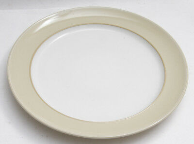 "Denby Caramel Gourmet Plate 12"" White Tan - Minor Abrasions NEW Old Stock E72"