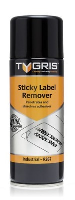 Tygris 400ml Penetrates & Dissolves Adhesives Sticky Label Remover Spray (R267)