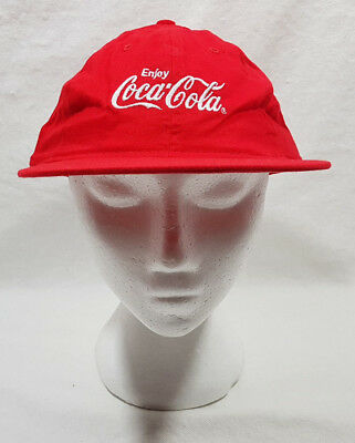 Coca Cola Red Baseball Hat With Embroidered White Letters Adjustable NEW