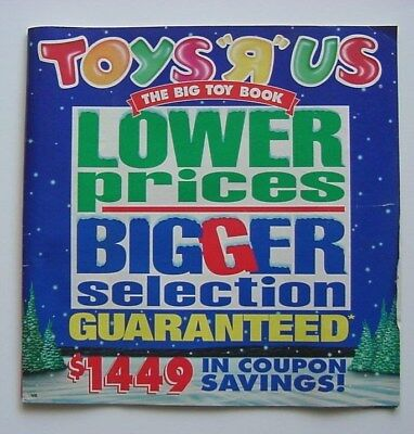 Large Vintage TOYS R' US Toy Catalog from 1995.