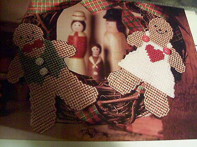 Plastic Canvas Pattern Ginger Love Boy Girl Gingerbread    Instructions