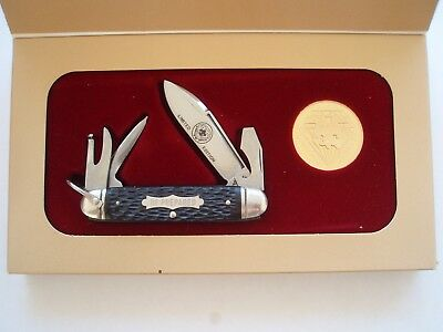 Schrade USA made 75TH Anniversary Diamond Jubilee Boy Scouts Knife