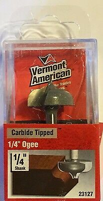 """Vermont American 23127 1/4"""" Ogee-1/4"""" Shank-Carbide Router Bit"""