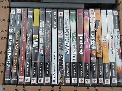 Mixed Lot of 20 Sony Playstation 2 PS2  Games