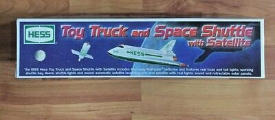 HESS 1999 Toy Truck and Space Shuttle with Satellite ~ NEW  in Box - PERFECT!