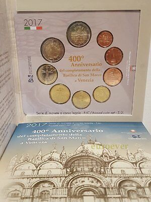 5,88 Euro KMS BU Italien Italy 2017 offiziell inkl. 2 Euro San Marco